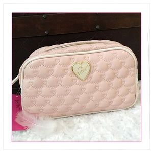 NEW Betsey Johnson Blush Pink Cosmetic Bag